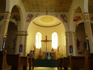 San Elizario Mission Interior