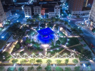 San Jacinto Plaza Night Shot